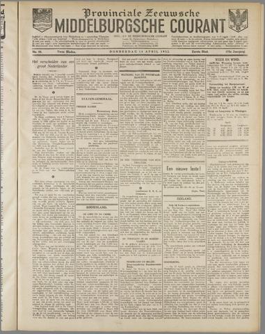 Middelburgsche Courant 1932-04-14