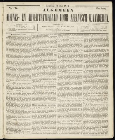 Ter Neuzensche Courant. Algemeen Nieuws- en Advertentieblad voor Zeeuwsch-Vlaanderen / Neuzensche Courant ... (idem) / (Algemeen) nieuws en advertentieblad voor Zeeuwsch-Vlaanderen 1872-05-11