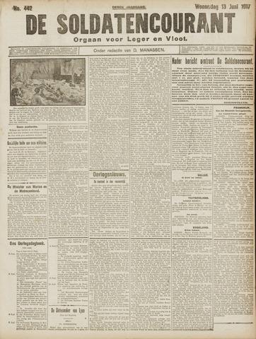 De Soldatencourant. Orgaan voor Leger en Vloot 1917-06-13