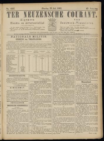 Ter Neuzensche Courant. Algemeen Nieuws- en Advertentieblad voor Zeeuwsch-Vlaanderen / Neuzensche Courant ... (idem) / (Algemeen) nieuws en advertentieblad voor Zeeuwsch-Vlaanderen 1902-07-29