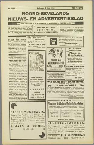 Noord-Bevelands Nieuws- en advertentieblad 1934-06-02