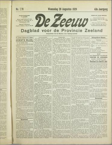 De Zeeuw. Christelijk-historisch nieuwsblad voor Zeeland 1929-08-28