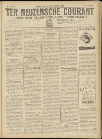 Ter Neuzensche Courant. Algemeen Nieuws- en Advertentieblad voor Zeeuwsch-Vlaanderen / Neuzensche Courant ... (idem) / (Algemeen) nieuws en advertentieblad voor Zeeuwsch-Vlaanderen 1936-09-02