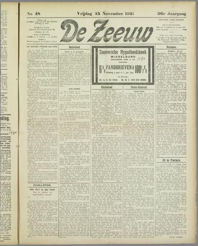 De Zeeuw. Christelijk-historisch nieuwsblad voor Zeeland 1921-11-25