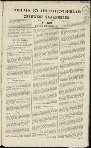 Ter Neuzensche Courant. Algemeen Nieuws- en Advertentieblad voor Zeeuwsch-Vlaanderen / Neuzensche Courant ... (idem) / (Algemeen) nieuws en advertentieblad voor Zeeuwsch-Vlaanderen 1855-12-19
