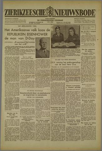 Zierikzeesche Nieuwsbode 1952-11-06