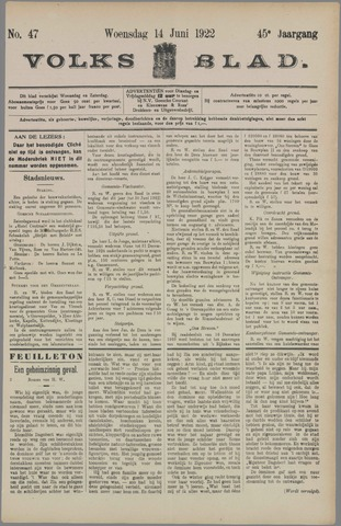 Volksblad 1922-06-14