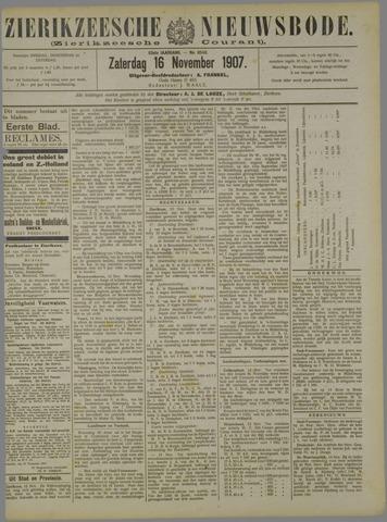 Zierikzeesche Nieuwsbode 1907-11-16