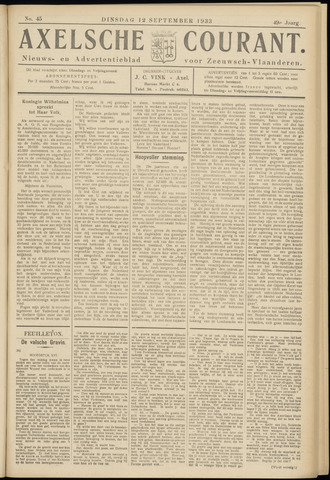 Axelsche Courant 1933-09-12