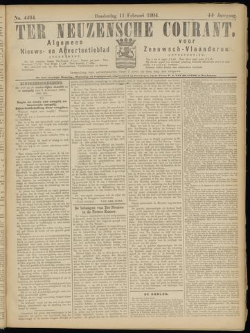 Ter Neuzensche Courant. Algemeen Nieuws- en Advertentieblad voor Zeeuwsch-Vlaanderen / Neuzensche Courant ... (idem) / (Algemeen) nieuws en advertentieblad voor Zeeuwsch-Vlaanderen 1904-02-11