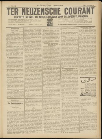 Ter Neuzensche Courant. Algemeen Nieuws- en Advertentieblad voor Zeeuwsch-Vlaanderen / Neuzensche Courant ... (idem) / (Algemeen) nieuws en advertentieblad voor Zeeuwsch-Vlaanderen 1936-09-07