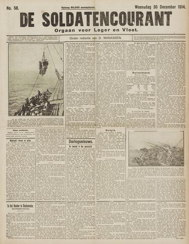 De Soldatencourant. Orgaan voor Leger en Vloot 1914-12-30