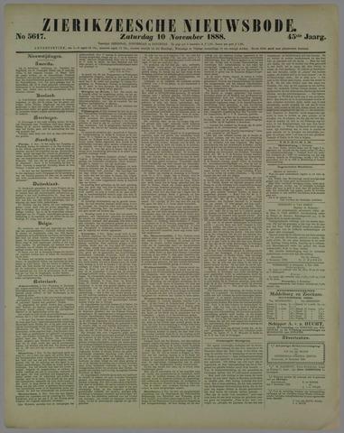Zierikzeesche Nieuwsbode 1888-11-10