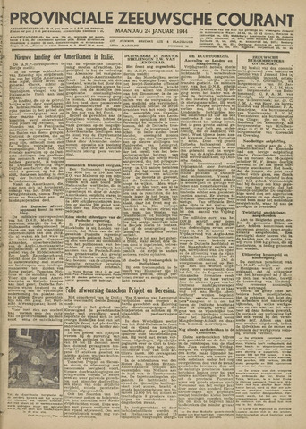 Provinciale Zeeuwse Courant 1944-01-24