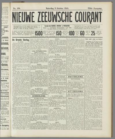 Nieuwe Zeeuwsche Courant 1915-10-09
