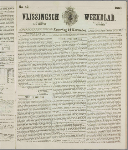Vlissings Weekblad 1863-11-14