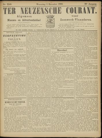 Ter Neuzensche Courant. Algemeen Nieuws- en Advertentieblad voor Zeeuwsch-Vlaanderen / Neuzensche Courant ... (idem) / (Algemeen) nieuws en advertentieblad voor Zeeuwsch-Vlaanderen 1886-12-01