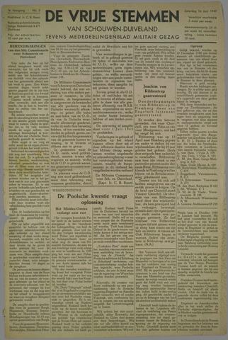Vrije Stemmen van Schouwen-Duiveland, tevens mededeelingenblad Militair Gezag 1945-06-16