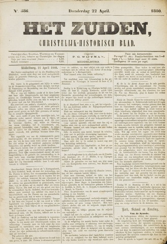 Het Zuiden, Christelijk-historisch blad 1880-04-22