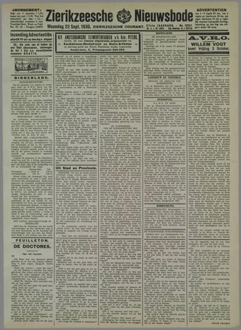 Zierikzeesche Nieuwsbode 1930-09-22