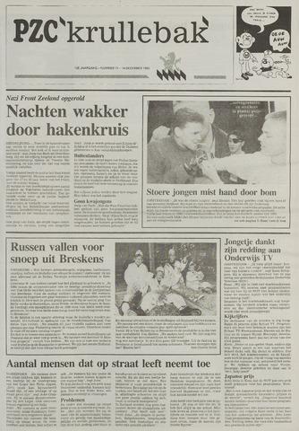 Provinciale Zeeuwse Courant katern Krullenbak (1981-1999) 1993-12-14
