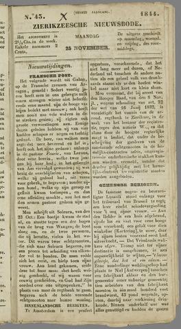 Zierikzeesche Nieuwsbode 1844-11-25