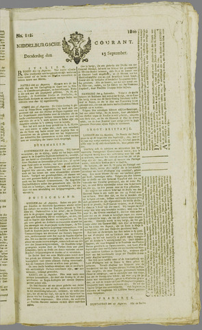 Middelburgsche Courant 1810-09-13