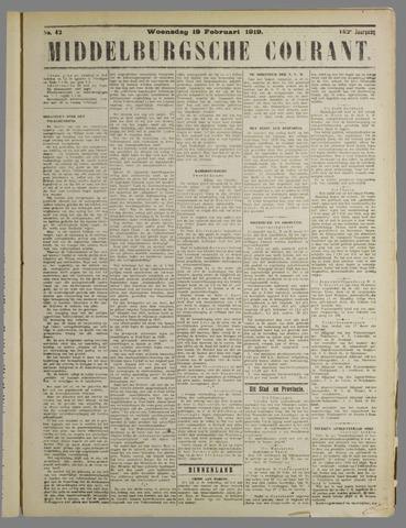 Middelburgsche Courant 1919-02-19