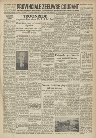 Provinciale Zeeuwse Courant 1947-09-17