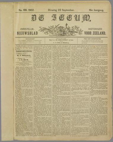 De Zeeuw. Christelijk-historisch nieuwsblad voor Zeeland 1902-09-23