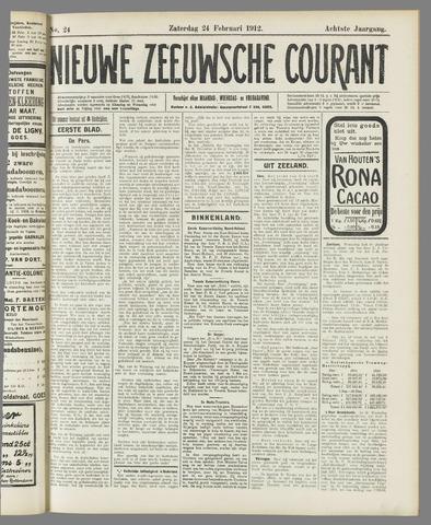 Nieuwe Zeeuwsche Courant 1912-02-24