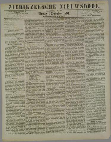 Zierikzeesche Nieuwsbode 1891-09-01