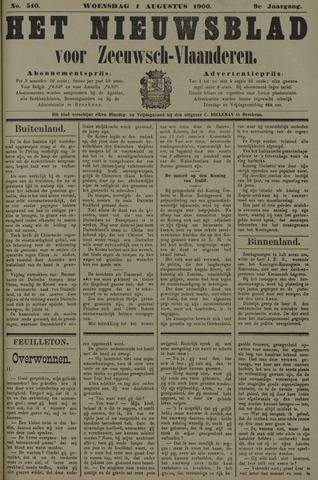 Nieuwsblad voor Zeeuwsch-Vlaanderen 1900-08-01