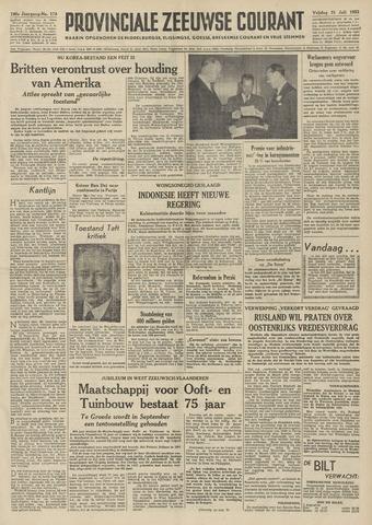 Provinciale Zeeuwse Courant 1953-07-31