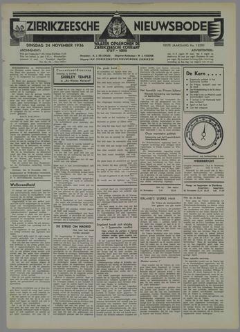 Zierikzeesche Nieuwsbode 1936-11-24