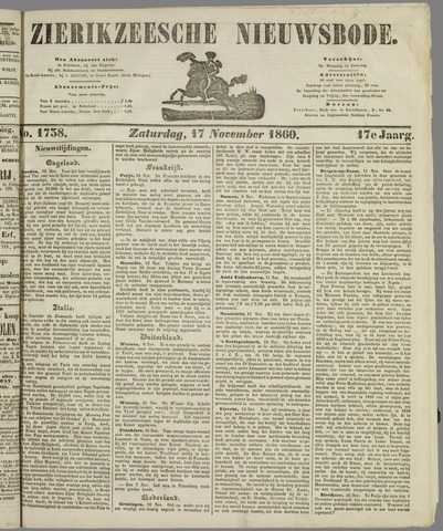 Zierikzeesche Nieuwsbode 1860-11-17