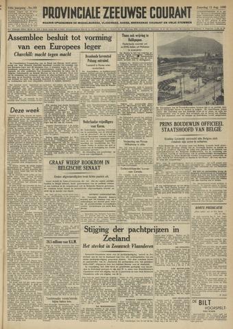 Provinciale Zeeuwse Courant 1950-08-12