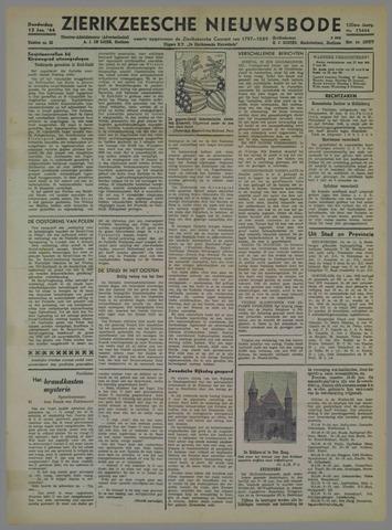 Zierikzeesche Nieuwsbode 1944-01-13