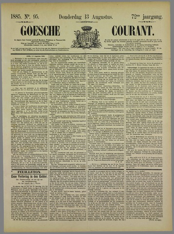 Goessche Courant 1885-08-13