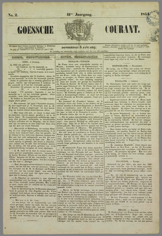 Goessche Courant 1854-01-05