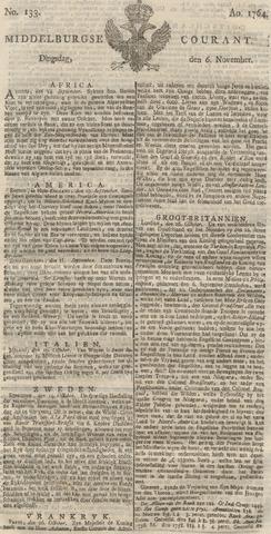 Middelburgsche Courant 1764-11-06