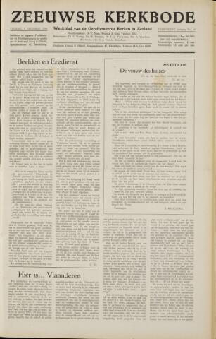 Zeeuwsche kerkbode, weekblad gewijd aan de belangen der gereformeerde kerken/ Zeeuwsch kerkblad 1958-10-03