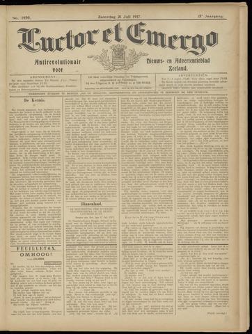 Luctor et Emergo. Antirevolutionair nieuws- en advertentieblad voor Zeeland / Zeeuwsch-Vlaanderen. Orgaan ter verspreiding van de christelijke beginselen in Zeeuwsch-Vlaanderen 1917-07-21