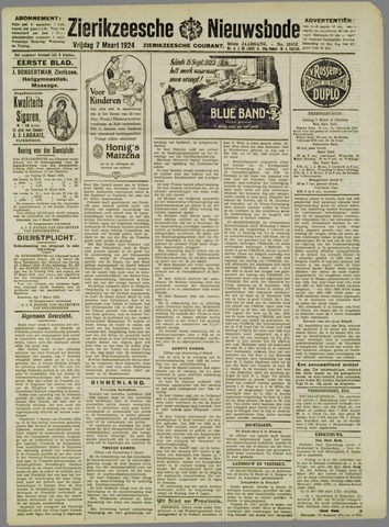 Zierikzeesche Nieuwsbode 1924-03-07