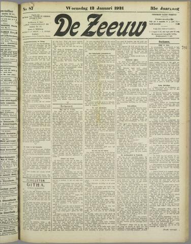De Zeeuw. Christelijk-historisch nieuwsblad voor Zeeland 1921-01-12