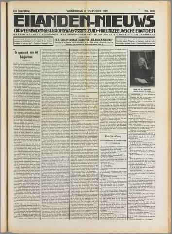 Eilanden-nieuws. Christelijk streekblad op gereformeerde grondslag 1939-10-18