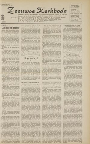 Zeeuwsche kerkbode, weekblad gewijd aan de belangen der gereformeerde kerken/ Zeeuwsch kerkblad 1963-02-22