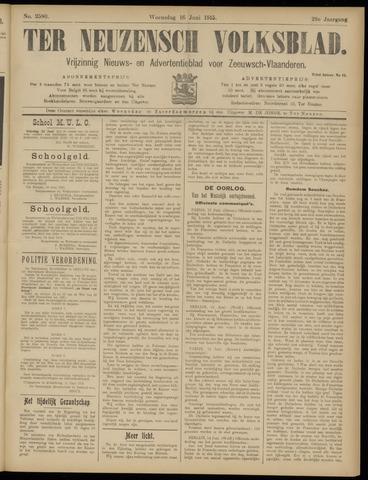 Ter Neuzensch Volksblad. Vrijzinnig nieuws- en advertentieblad voor Zeeuwsch- Vlaanderen / Zeeuwsch Nieuwsblad. Nieuws- en advertentieblad voor Zeeland 1915-06-16