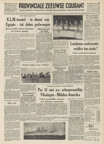 Provinciale Zeeuwse Courant 1956-05-02