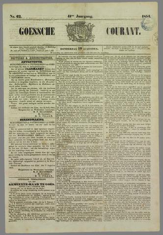 Goessche Courant 1854-08-10